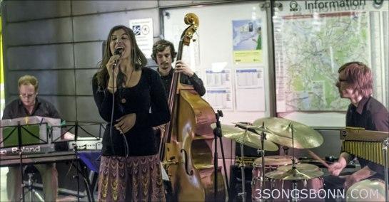 Filippa Gojo Quartett go underground at JazzTube last year.