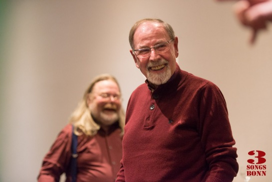 All smiles - messrs Harrison and Peters